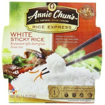 (Annie Chun's Rice Express Sticky White Rice, 7.4-Ounce Microwavable Bowls (Pack of 6))
