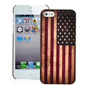 Generic Retro Flag Of The United States of America Hard Case Cover for iPhone 5 - Non-Retail Packaging - Multi