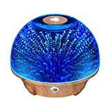 VicTsing 200ML Star burst efecto de fuegos artificiales 3D cristal difusor de aceite esencial con 7 colores cambiantes luces LED de la noche para fiesta, Navidad