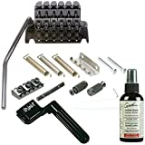 Floyd Rose Special Series Double Locking Tremolo Kit with R2 Nut, BLACK Guitar Bridge w/ Polish, and String Winder