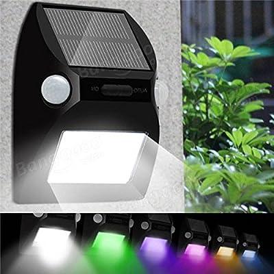 Global Capteur de mouvement à double tête solaire 12LED Applique murale 7 Couleur changeante Lampe extérieure étanche