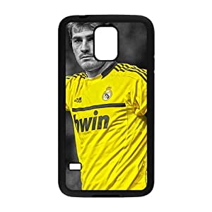 JIAJIA Soccer Real Madrid Iker Casillas HDR Black Phone Case for Samsung Galaxy S5
