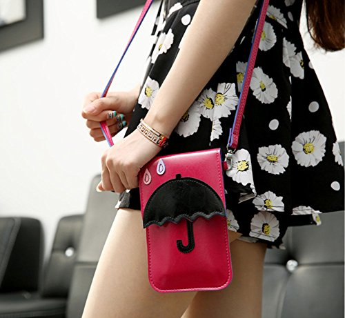 Cute Pattern pink Animal Shoulder 3D Rose Pouch Bag ModaKeusu Wallet Crossbody qxwAfnatP