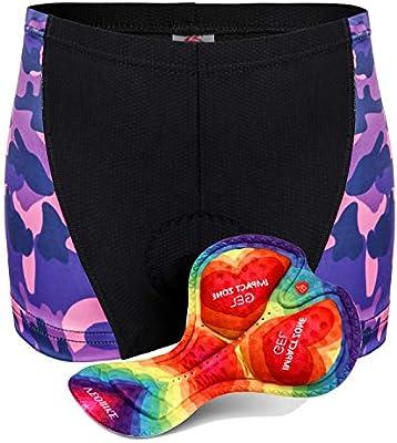 Hiauspor Women-Cycling-Bike-Underwear-MTB-Shorts-Padded
