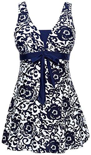 Marino sottile da del Bettydom copertura Blu stile ventre Abito costume Donna bagno Navy qfwwtX0