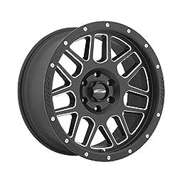 Pro Comp Alloys Series 40 Vertigo Satin Black Wheel with Milled Accents (18x9\