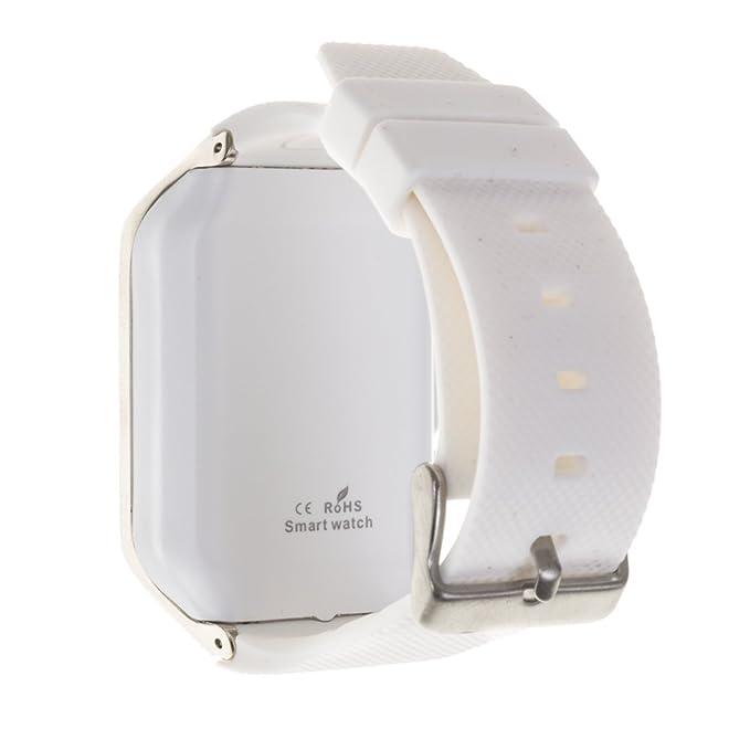 DAM Gv 18 Smart Bluetooth Watch White/Silver: Amazon.es ...