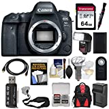 Canon EOS 6D Mark II Wi-Fi Digital SLR Camera Body with 64GB Card + Backpack + Flash + Battery & Charger + Strap Kit Review