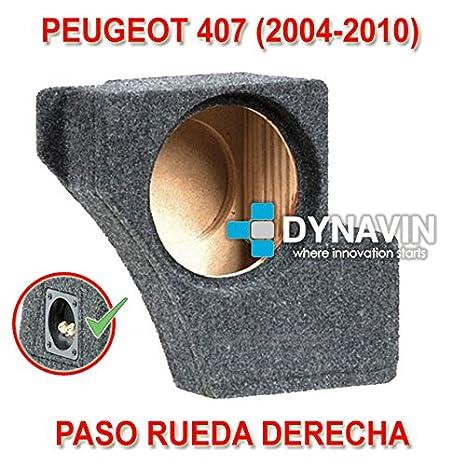 Dynavin Peugeot 407 (2004-2010). Rueda Derecha - Caja ACUSTICA para SUBWOOFER ESPECÍFICA para Hueco EN EL Maletero: Amazon.es: Coche y moto