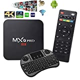 YoungGo MXQ PRO 4K Android 7.1 TV Box 1GB+8GB Supporting 4K (60Hz) Full HD /H.265 /WiFi with Wireless Keyboard