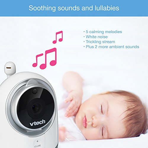 VTech VM3251-2 Expandable Digital Video Baby Monitor with 2 Cameras and Automatic Night Vision