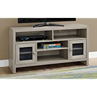Monarch Specialties Dark Taupe with Glass Doors TV Stand, 48