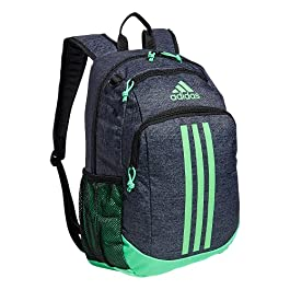 adidas Kids-Boy's/Girl's Young Creator Backpack, Jersey Black/Screaming Green, One Size