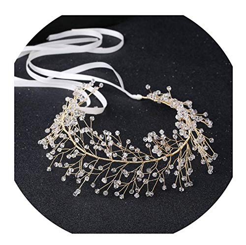New Arrival Noble Crystal Rhinestone Bridal Headpieces Satin Ribbon Wedding Hair Accessories for Brides Tiaras Crowns Headbands,Style 9