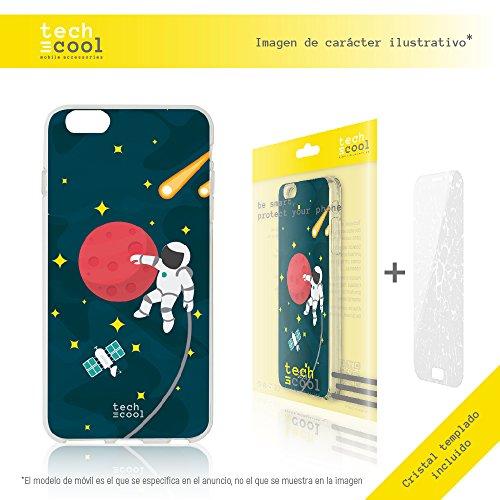 Iphone 7 Plus Coque, Funnytech® Housse premium Souple TPU Silicone pour Iphone 7 Plus + Verre trempe l [couleurs très vives] [Design exclusif, Impression haute définition] [1.5mm] [Antichoc] [Souple]