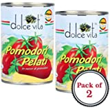Dolce Vita Pomodori Pelati Peeled Tomatoes, 400g (Pack of 2)