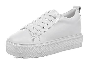 Blanc Célibataires chaussures de loisirs fond épais chaussures de bouche peu profonde ifrqkB7
