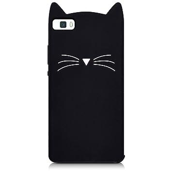 kwmobile custodia in silicone design gatto per huawei p8 lite 2017