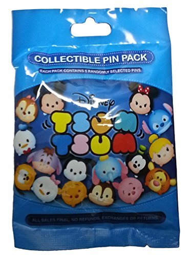 Disney Tsum Tsum Mystery Pack Set of 5 (Mystery Pin Set)