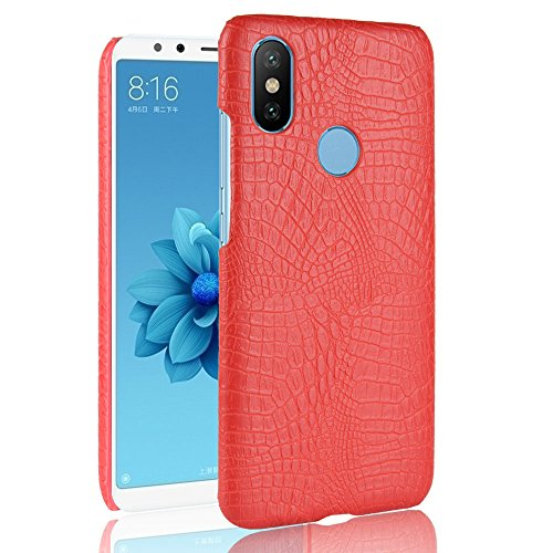 (AICEDA Xiaomi Redmi S2 Case, Man Defender Impact Rugged Case with Man Protective Case Cover for Xiaomi Redmi S2 (Red))