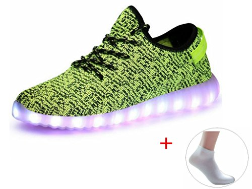 Lightning party Men USB Charging LED Shoes Fashion Flashing Sneakerss