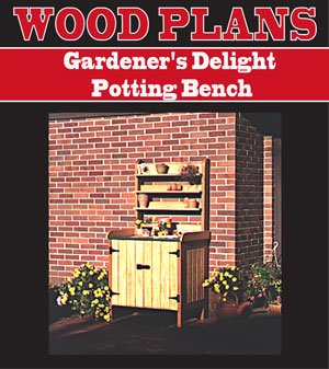 GARDNERS POTTING BENCH WOODWORKING PAPER PLAN PW10008 Potting Bench Plan