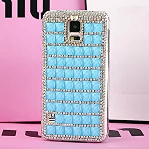 HJZ LUXURY Fully Jelly Diamonds Crystal Back Cover Case for SAMSUNG Galaxy S5 I9600(Assorted Colors) , Purple