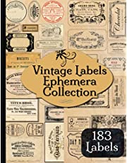 Vintage Labels Ephemera Collection: 183 Vintage Advertising Apothecary Labels