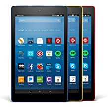 Fire HD 8 Variety Pack, 16GB - Includes Special Offers (Marine Blue/Punch Red/Canary Yellow)