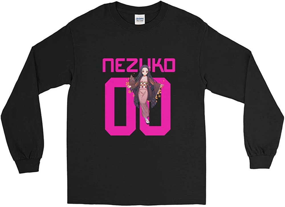 Nezuko Kamado Demon Slayer Kimetsu no Yaiba Anime Awesome Gift Men//Women Unisex Long Sleeve T-Shirt