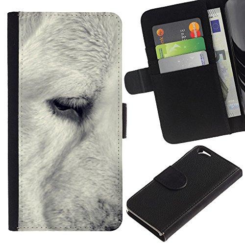 OMEGA Case / Apple Iphone 6 4.7 / black white retriever muzzle snout dog / Cuir PU Portefeuille Coverture Shell Armure Coque Coq Cas Etui Housse Case Cover Wallet Credit Card