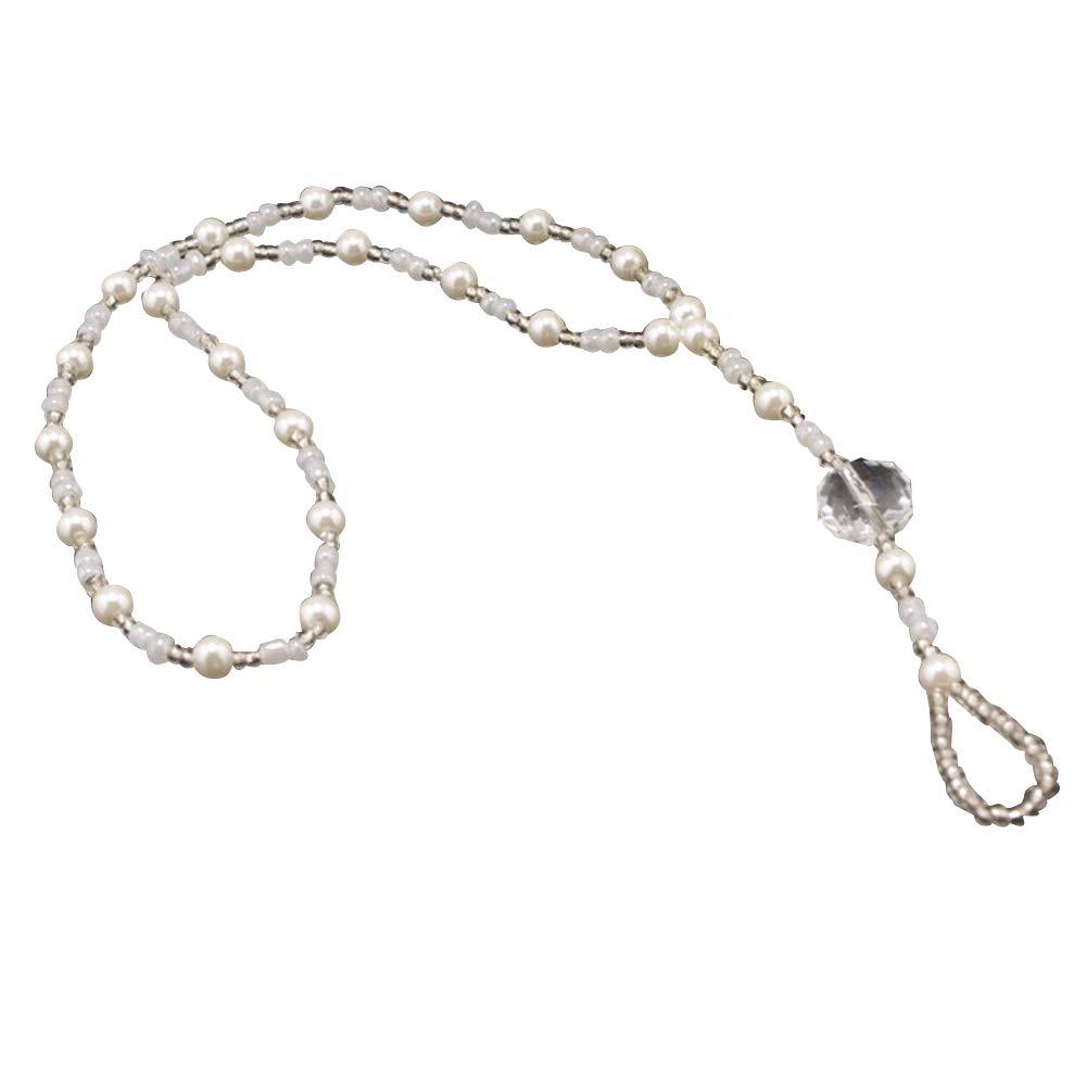 soAR9opeoF Ankle Bracelet Women Faux Pearl Beaded Anklet Beach Barefoot Sandal Foot Jewelry Chain Bracelet