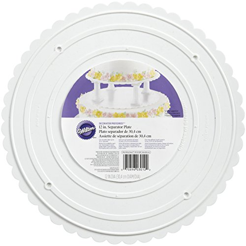 - Wilton 302-12 Decorator Preferred Round Separator Plate for Cakes, 12-Inch