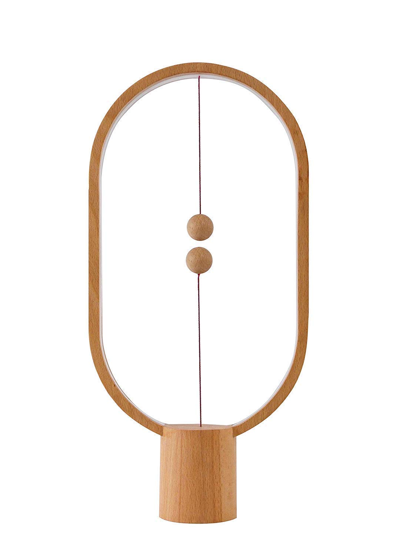 Konstante Balance Lampe - - - elliptische magnetische Midair Switch USB LED-Licht, Warm Eye Care LED-Licht, Nachtlicht, Tischlampe, Schlafzimmer Dekor, Wohnzimmer, Restaurant und Büro (Holz) B07H84T8KC   Ausgezeichnetes Preis  1248e4