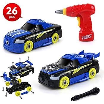 Amazon com: SGILE Take Apart Car Toy Set, 52 Pieces 4 in 1