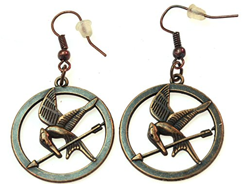 Luos Vintage Mockingjay Style Dangle Earring