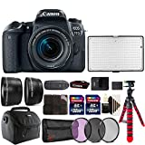 Canon EOS 77D 24.2MP DSLR Camera + 18-55mm + 58m Filter Kit + Telephoto and Wide Angle Lens + Two 32GB Memory Card + Card Holder + Reader + Led Video Light + Case + Flexible Tripod + 3pc Cleaning Kit Review