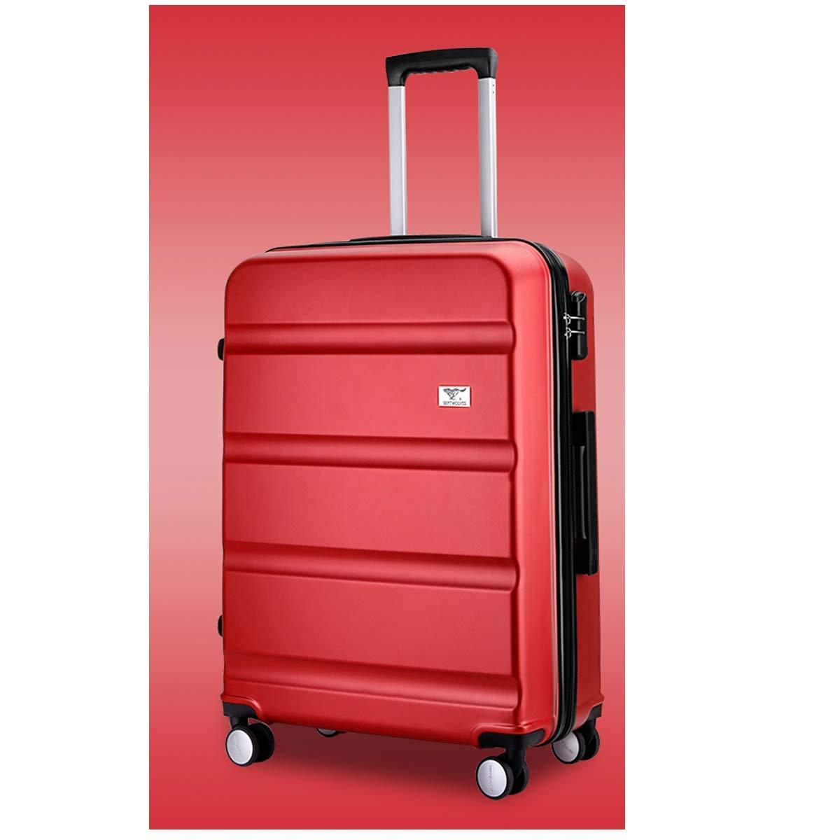 Shengshihuizhong キャリースーツケース ハードケース 回転スーツケース トラベルオーガナイザー ギフトに最適 20/24インチ ブラック シンプルなスタイル レッド サイズ 20 B07PS2QTG4