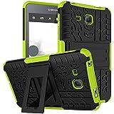 """KATUMO Galaxy Tab A 7.0 puladas Carcasa, Funda de Piel Silicona Gel Carcasa Goma para Tablet Samsung Galaxy Tab A 7.0""""(SM-T280/285) Funda Dura Protectora Transparent Cubierta-Verde"""
