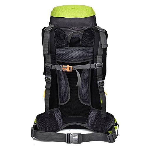 Klettern Beutel 60L Wasserdichte Outdoor Rucksack große Kapazität von Männern und Frauen Reisen Bag Outdoor Klettern Taschen mit Ständer, blau