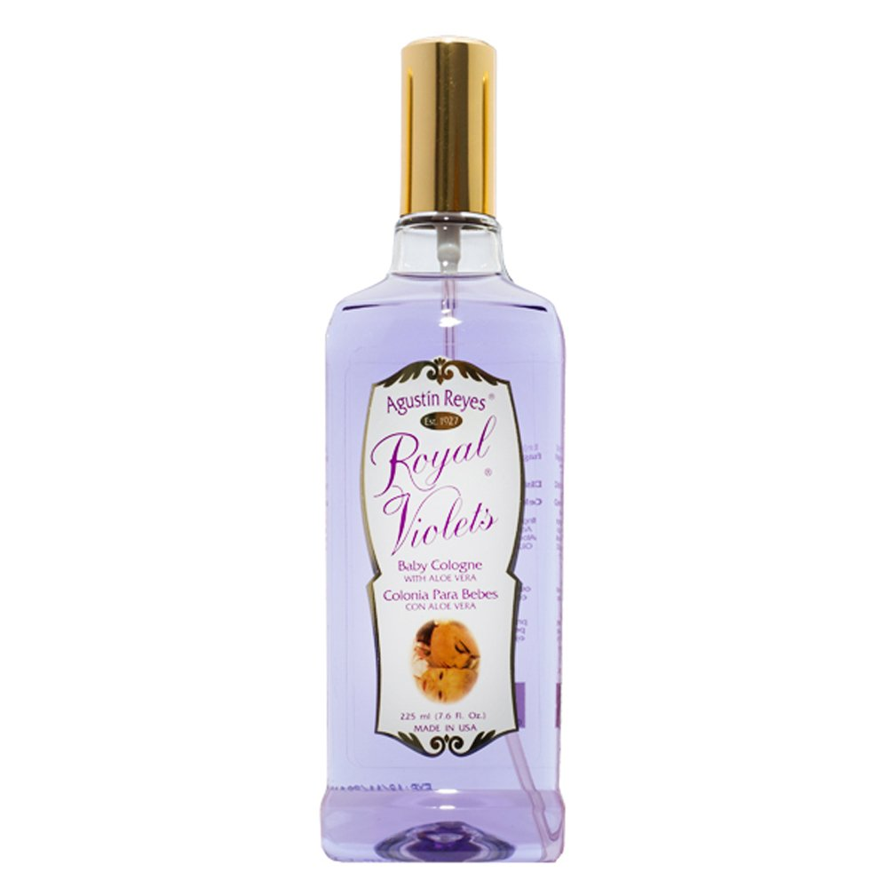 Agustin Reyes Royal with ALOE VERA Violets - Baby Cologne Spray Bottle by Royal Violets.