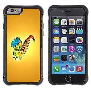 Suave TPU GEL Carcasa Funda Silicona Blando Estuche Caso de protección (para) Apple Iphone 6 / CECELL Phone case / / Saxophone Music /