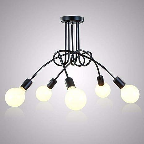Cwill Vintage Lámparas de techo Iluminación de techo negro ...