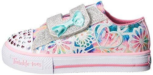 Skechers Kids Shuffles Light-Up Sneaker (Toddler), Pink/Multi, 7 M US Toddler