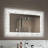 900 x 600 mm Designer Illuminated LED Bathroom Mirror Light Sensor + Demister ML7001
