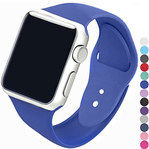 a8Miss Apple Watch Band, Silicone Replacement Iwatch Bands Series 1, Series 2,Series 3 (38mm S/M, Royal Blue) (Series Royal Blue)