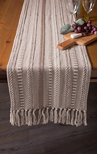 DII 15x72 Braided Cotton Table Runner, Stone Taupe Perfect for Spring, Fall Holidays, Parties and Everyday Use by DII (Image #5)