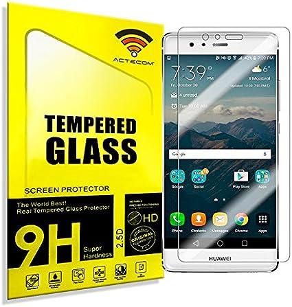 cogac ACTECOM® Protector Pantalla para Huawei P9 Lite 2.5D 9H 0 ...