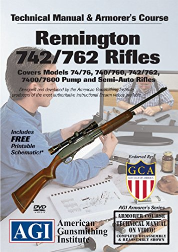 - American Gunsmithing Institute Armorer's Course Video on DVD for Remington 742/762 Rifles - Technical Instructions for Disassembly, Cleaning, Reassembly and More