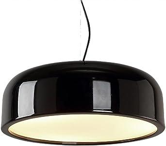 LED Moderno Colgante de Luz Moda Lámpara Colgante Industrial Estilo Lámpara de Techo Aluminio Circulo Pantalla de Lámpara Focos de Techo por Comedor Desván Sala Comedor Oficina 3x E27 Ø35CM: Amazon.es: Iluminación